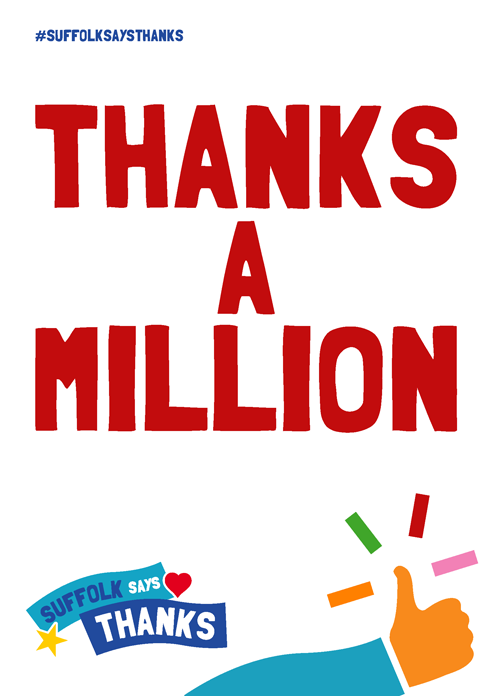 """Thanks a million"" poster"