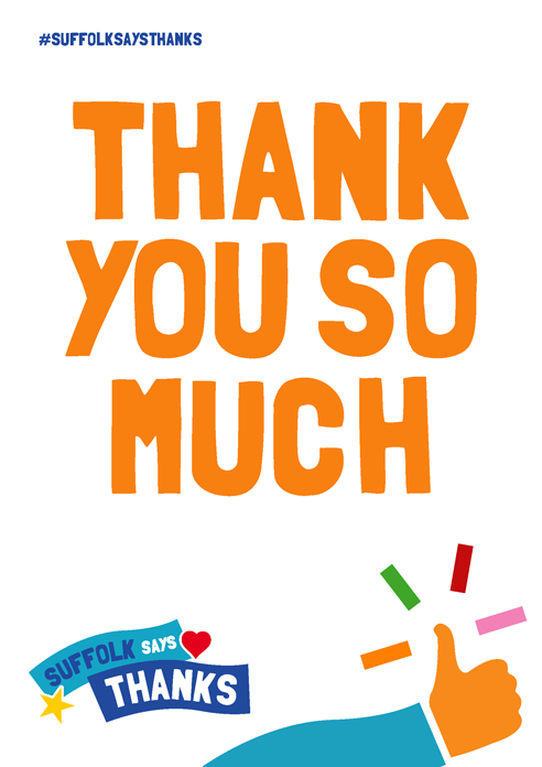 """Thank you so much"" poster"