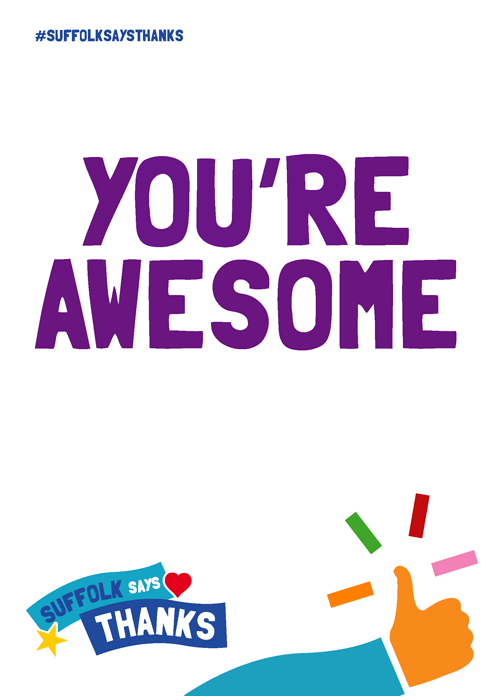 """You're awesome"" poster"