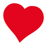 Red heart sticker