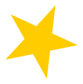 Yellow star sticker