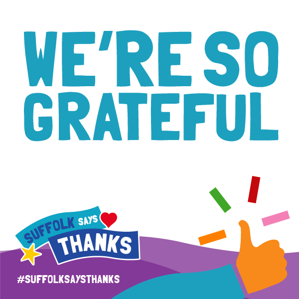 """We're so grateful"" graphic"