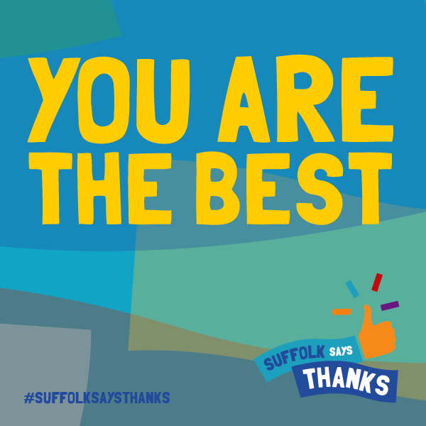 """You are the best"" graphic"