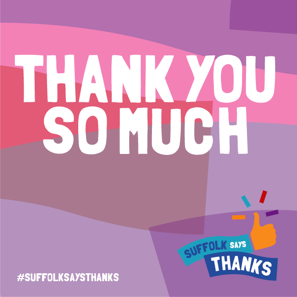 """Thank you so much"" graphic"
