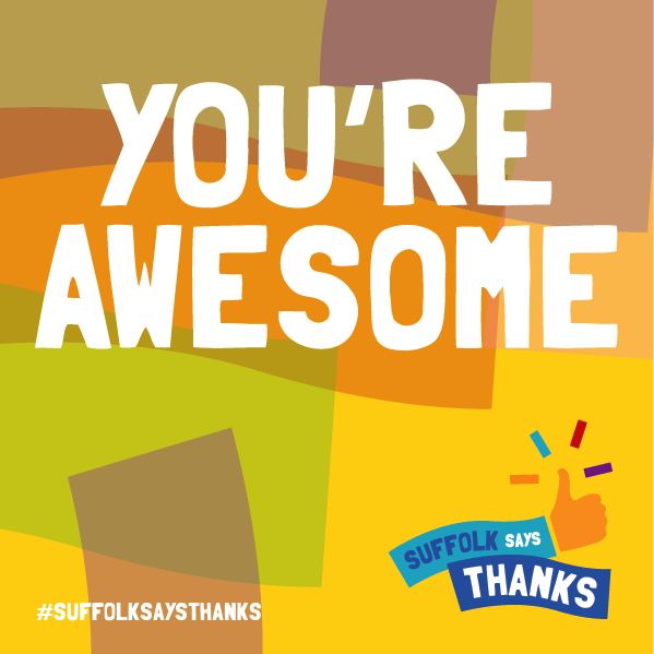 """You're awesome"" graphic"