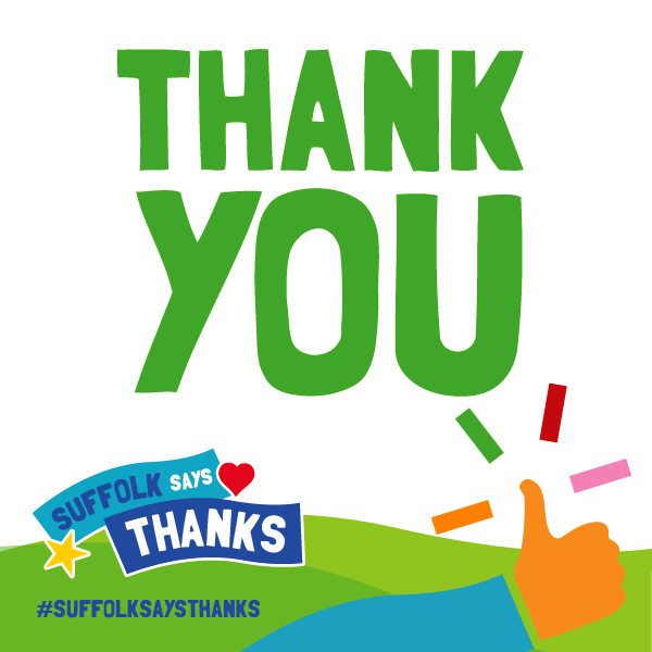 """Thank you"" graphic"