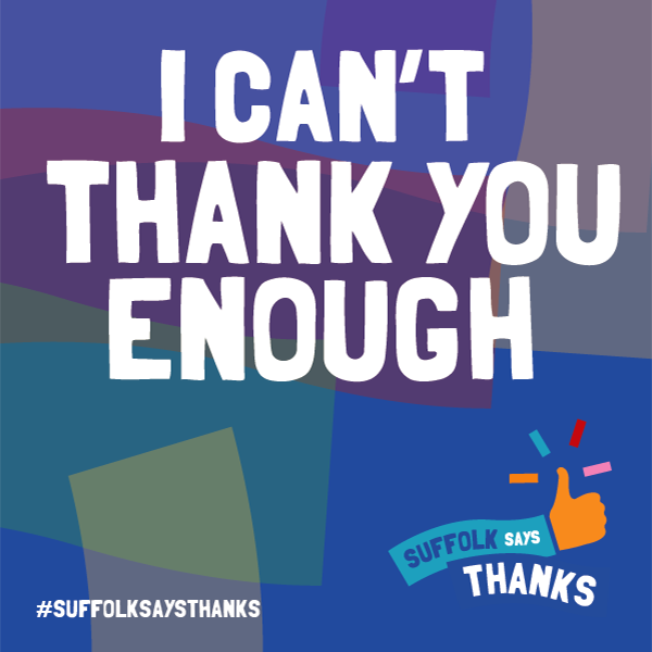 """I can't thank you enough"" graphic"