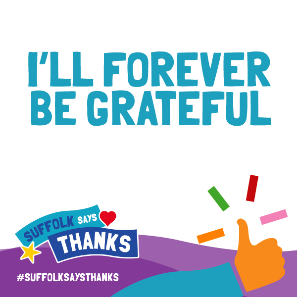"""I'll forever be grateful"" graphic"