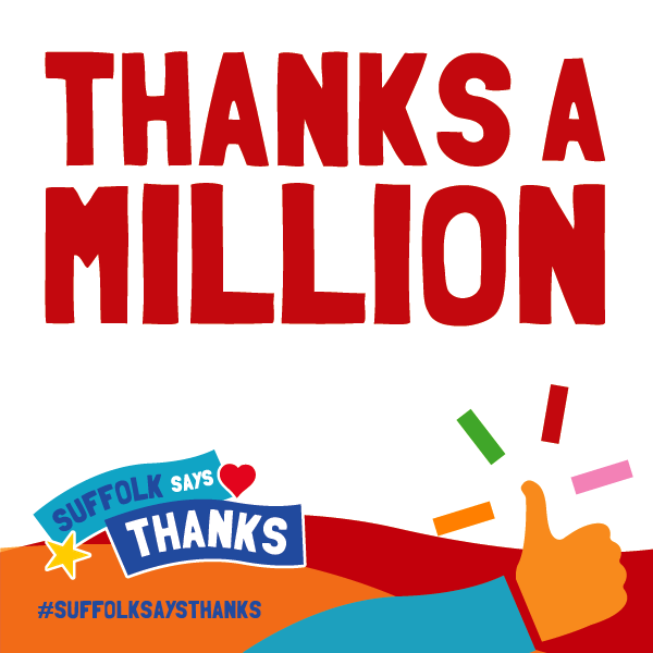 """Thanks a million"" graphic"