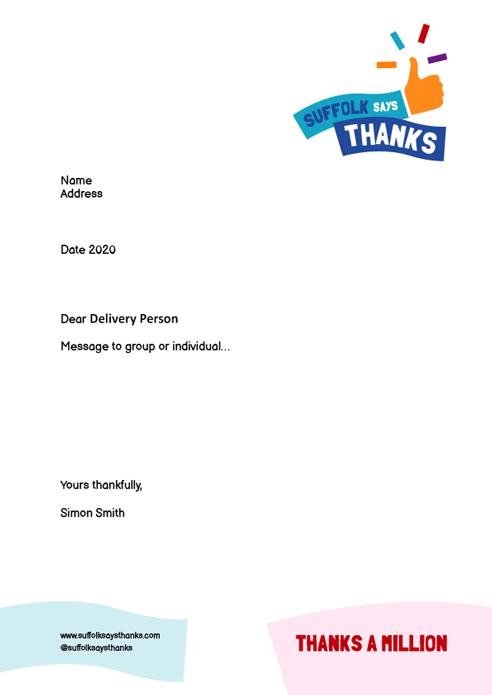 """Thanks a million"" letter template"