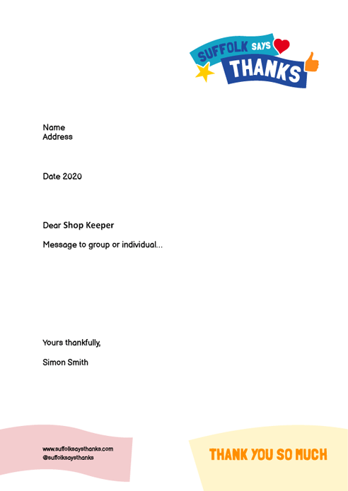 """Thank you so much"" letter template"