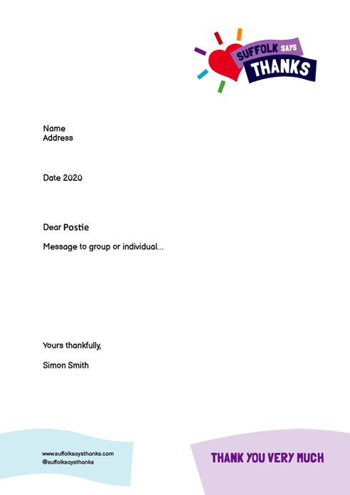"""Thank you very much"" letter template"