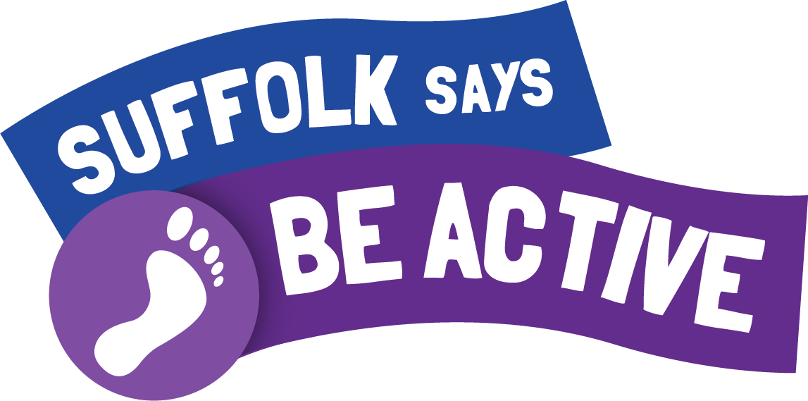Suffolk says be active logo