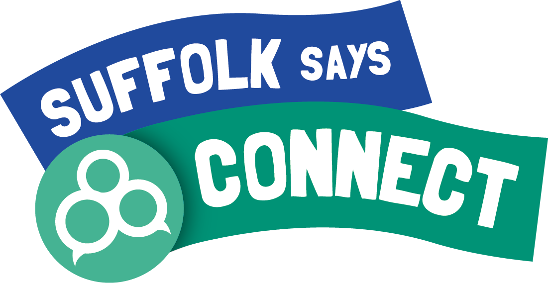 Suffolk says connect logo