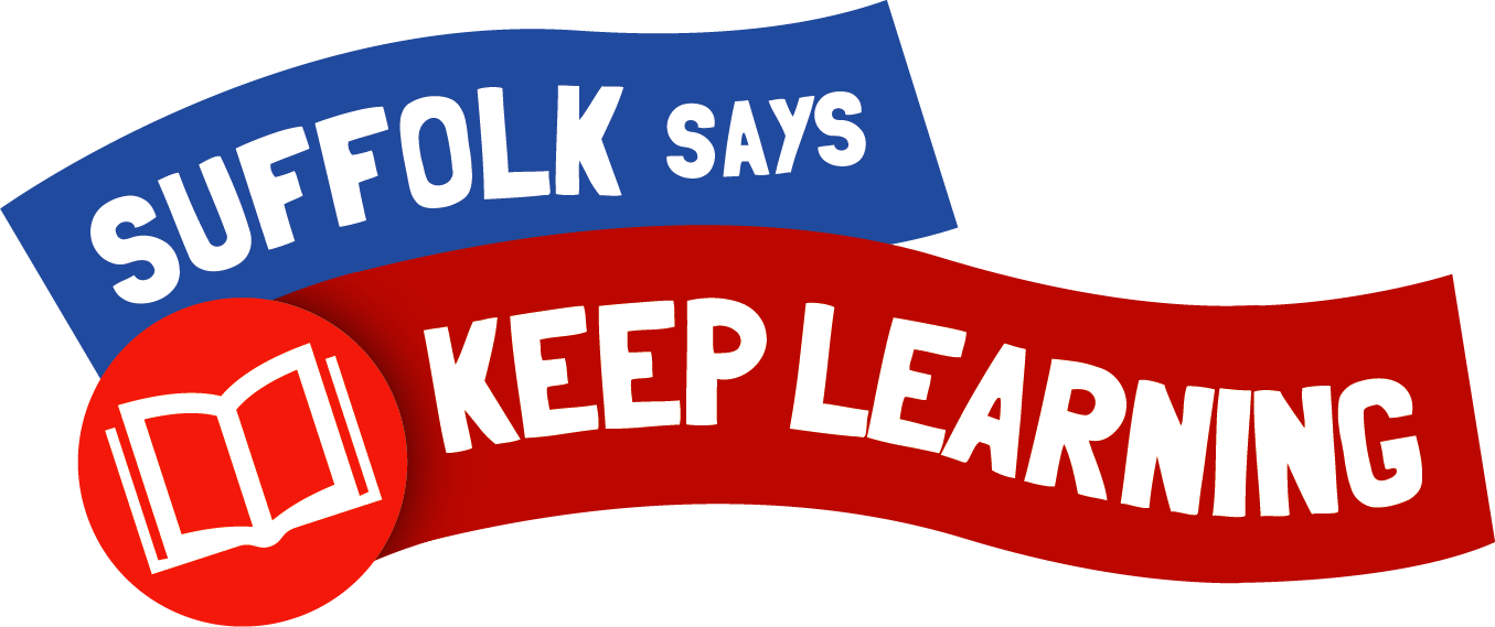 Suffolk says keep learning logo