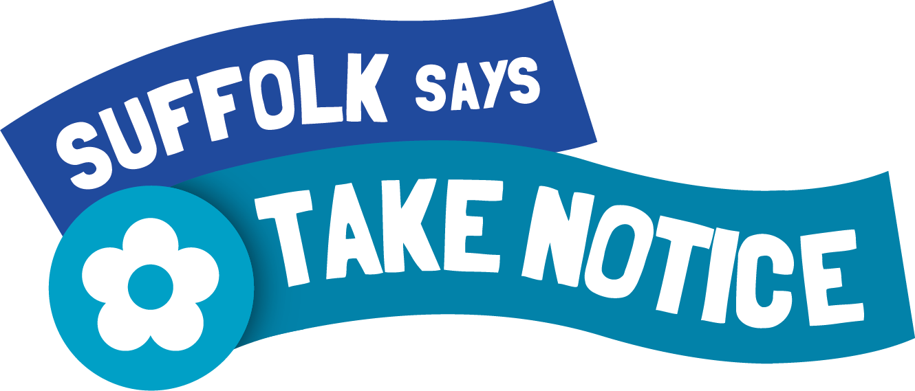Suffolk says take notice logo