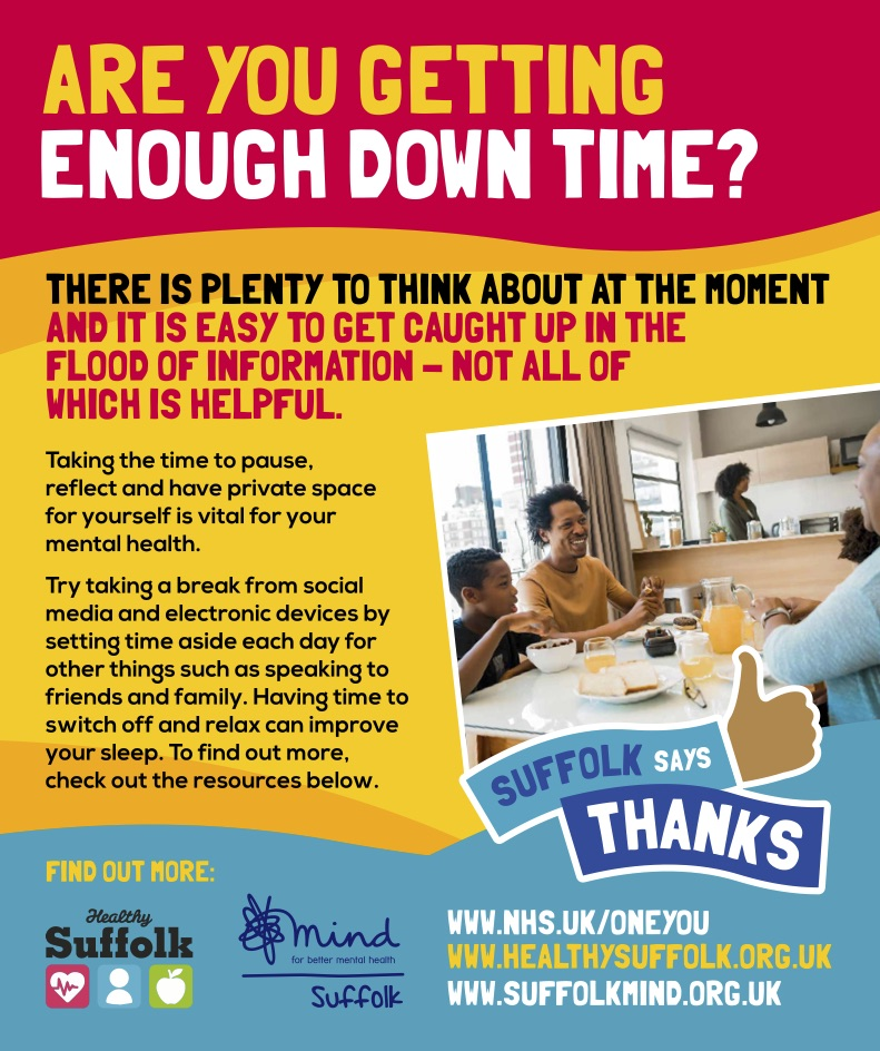advert for are you getting enough down time